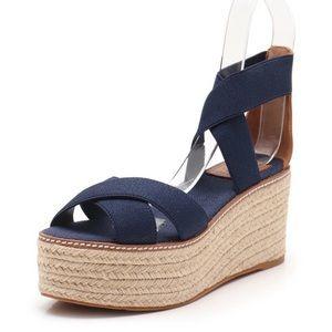 Brand new espadrille stretch leather sandal